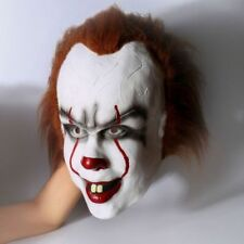 US STOCK  Movie Stephen King's It Clown Pennywise Halloween Cosplay Mask Prop