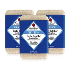 Jack Black - Turbo Body Bar Scrubbing Soap, 6 oz Pack of 3 6 Ounce (Pack 3)