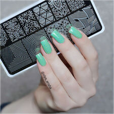 Nail Art Stamping Plate Vines Illusion Theme Image Template BP-L027