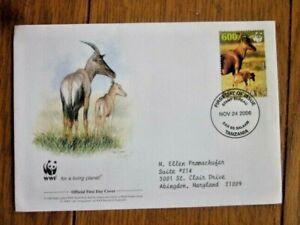 TOPI  WWF WORLD WILDLIFE FEDERATION 20016 TANZANIA FDC