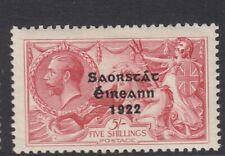 IRELAND-1922-23  5/- Rose Carmine.  A mounted mint example Sg 65