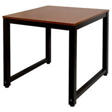 Tisch Computertisch PC Schreibtisch Bürotisch 80 x 80 cm Teak Schwarz Kingpower
