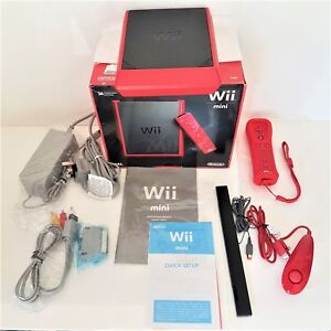 Nintendo Wii mini Ltd Edition 8GB Red Console -COMPLETE *MINT* NEXT DAY DELIVERY
