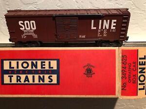 Postwar Lionel 3494-625 SOO LINE Operating Boxcar Mint COLLECTOR QUALITY C-10
