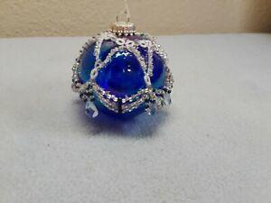 Christmas Tree Ornament handmade with Swarovski Crystals