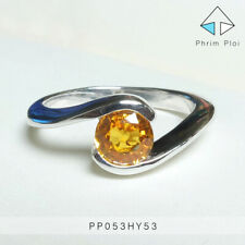 Thai Handmade 100% Natural Yellow Sapphire Gem with 925 Silver Ring PP053HY53