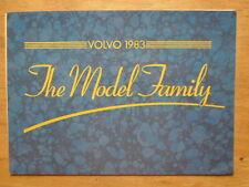 Volvo gamme 1983 uk marketing sales brochure - 340 360 240 740 série 760