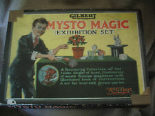 1930s Vintage Gilbert Mysto Magic Exhibition Set with Original Poster