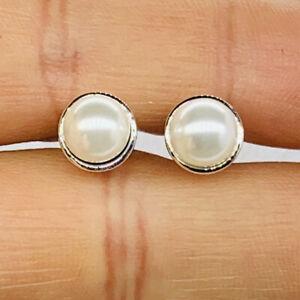 New pandora Elegante Beauty White Pearl Stud Earrings