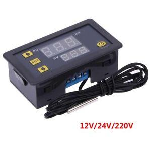 12/24/220V LCD Digital Thermostat Temperature Controller Meter Regulator W3230