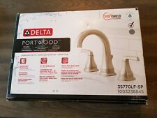 Delta Portwood 8 in. Widespread 2-Handle Bathroom Faucet Brushed Nickel (BM)