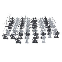 60Pieces Medieval Knights Soldiers Infantry Figures Playset Toy History Gift Set