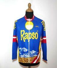 Vintage Giessegi Cycling Jersey Long Sleeve XXL Men Blue 2XL Racing Full Zip