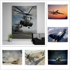 Aircraft War Tapestry Art Wall Hanging Cover Home Decor