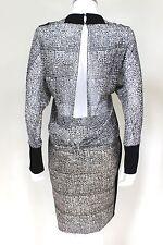 Balenciaga 2013 Sin Espalda Blusa Prenda para el torso Imprimir Falda Vestido Set 36 Reino Unido 6-8