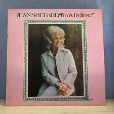 JEAN SHEPARD I'm A Believer - 1975 UK Vinyl LP EXCELLENT CONDITION