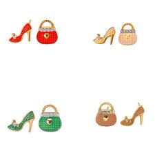 Bolsa De Zapatos Tacón Alto Asimétrico Pendientes Con Pasador Para Mujeres Dama