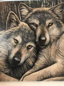 Gorgeous Wolf Canvas Wall Set / Wolf Collectible