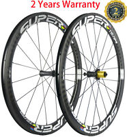 UCI Approved 50mm Clincher Carbon Wheels 25mm Width Ceramic Bearing Wheelset