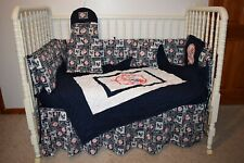 CRIB NURSERY BEDDING SET MADE/W NEW YORK YANKEES NY TOPHAT
