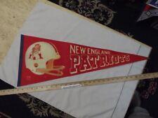 Vintage 1970's New England Patriots Felt Pennant Football NFL Old Style Helmet