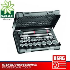 USAG 606 1/2 EA Assortimento 23 pezzi in cassetta ABS bussole cricchetto snodo
