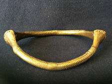 Bracelet chevillière en bronze doré Afrique Sénoufo Côte d'Ivoire