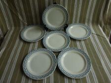 """6 assiettes plates salins bm,terre de fer,service """"sermaize""""(1)"""