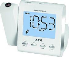 AEG Original Funkuhrenradio mit Projektion Weiß Edition mit LCD-Display NEU