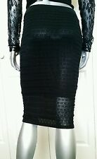 $80.00 100% AUTHENTIC NWT BEBE  MIDI KNIT PENCIL SKIRT SIZE LARGE