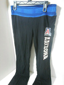 New Ladies Arizona Wildcats Fitted Yoga Lounge Printed Pants Black Size Med NCAA