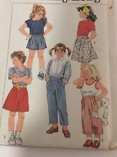 Simplicity 7409 Vintage Sewing Pattern Girls Size 4 Easy to sew pants skirt