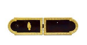 Antique French Ormolu Bronze Steel Rim Lock Door Key - Chateau Style Hardware