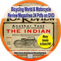 Bicycling World and Motorcycle Review Magazine Vintage DVD 24 Pdfs