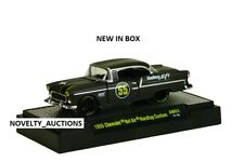 L169 32600 AM03 M2 MACHINES AUTO MODS 1955 CHEVROLET BELAIR HARTOP BLACK  1:64