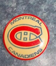 Montreal Canadians NHL pin back Button 2 in. in diameter
