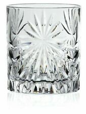 Set of 6x RCR Italian Crystal Whisky Tumblers Oasis Glass 32cl