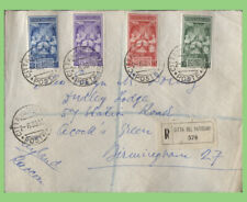 More details for vatican 1939 coronation of pope pius xii set on reg. cover to england
