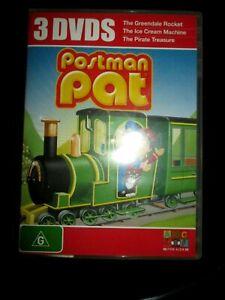 Postman Pat 3 DVD Greendale Rocket Ice Cream Machine, Pirate Treasure DVD Reg 4