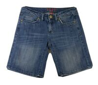 Elle Paris Womens Blue Jean Shorts Size 4 Small Cotton Bermuda Pockets