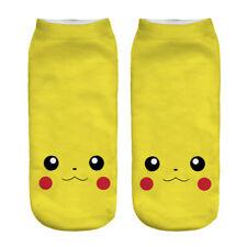 Pokemon sports socks unisex  white invisable