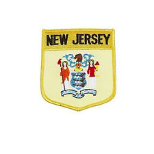 NEW JERSEY  USA STATE SHIELD FLAG EMBROIDERED IRON-ON PATCH CREST BADGE.. NEW