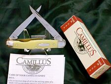 """Camillus Woodsman Knife #714 Yello Jaket 3-7/8"""" Closed W/Packaging & Papers USA"""