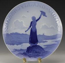 "Large Commemorative Porcelain Plate Bing Grondahl B&G Sonderjylland 13.5"" diam"