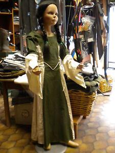 Kinderkleid Mittelalter Kleid Mittelalterkleid Kostüm Kinder medieval kids grün