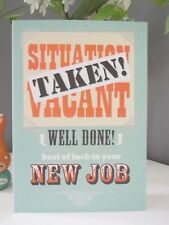 Quality New Job Card Congratulations Well Done Good Luck Foiling Friend Son Work
