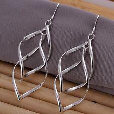 Ohrringe Blatt  - Silber pl. Geschenk Ohrringe Schmuck Damen