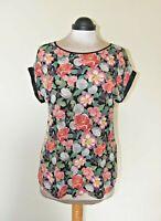 Oasis T Shirt Top Beautiful Flower Print Excellent Condition Size M