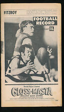 1969 VFL Football Record Fitzroy v Richmond August 2  Lions Tigers