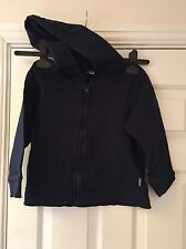 TU Boys Navy Blue Hooded Jumper Size 7 Years